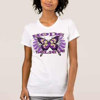 Pancreatic Cancer Hope Believe Butterfly Tee Shirt