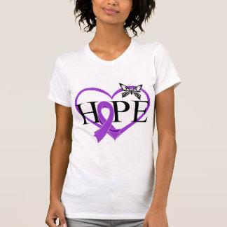 Pancreatic Cancer Hope Butterfly Heart Décor T-shirt