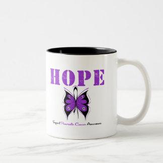Pancreatic Cancer Hope Butterfly Two-Tone Mug