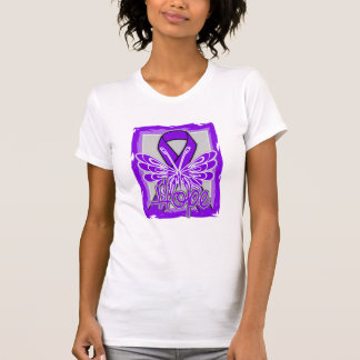 Pancreatic Cancer Hope Butterfly Portrait T-shirts