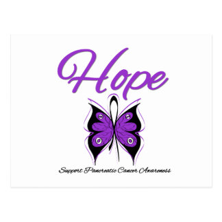 Pancreatic Cancer Hope Butterfly Ribbon Postcard