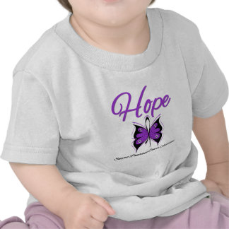 Pancreatic Cancer Hope Butterfly Ribbon T Shirts