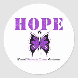 Pancreatic Cancer Hope Butterfly Classic Round Sticker