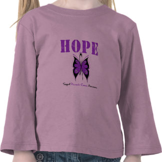 Pancreatic Cancer Hope Butterfly Tees