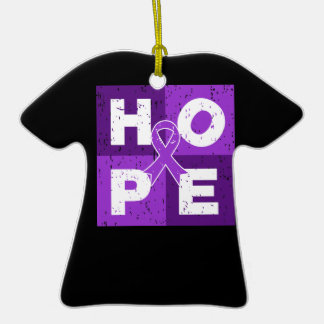 Pancreatic Cancer HOPE Cube Christmas Ornament
