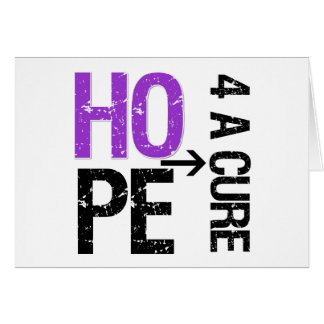 Pancreatic Cancer Hope For a Cure Greeting Card