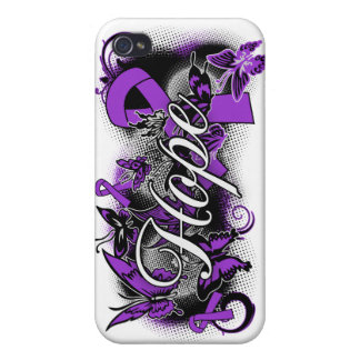 Pancreatic Cancer Hope Garden Ribbon iPhone 4/4S Cover