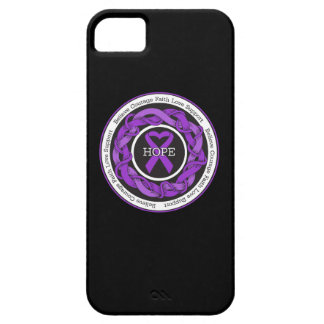 Pancreatic Cancer Hope Intertwined Ribbon iPhone 5 Cover