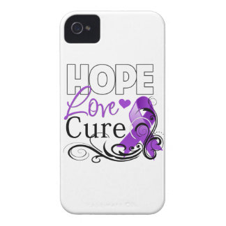 Pancreatic Cancer Hope Love Cure iPhone 4 Cases