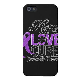 Pancreatic Cancer Hope Love Cure iPhone 5/5S Covers