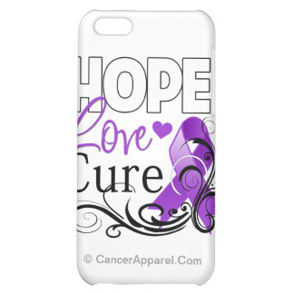 Pancreatic Cancer Hope Love Cure iPhone 5C Cases