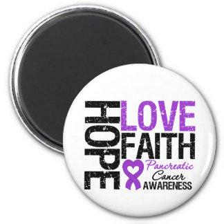 Pancreatic Cancer Hope Love Faith 6 Cm Round Magnet