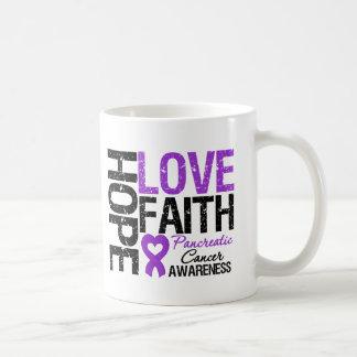 Pancreatic Cancer Hope Love Faith Basic White Mug