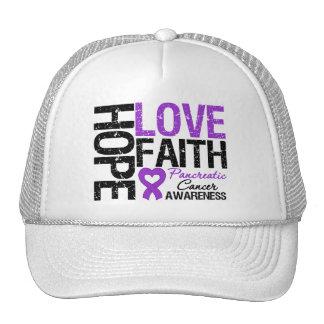 Pancreatic Cancer Hope Love Faith Hat