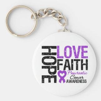 Pancreatic Cancer Hope Love Faith Key Chains