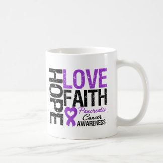 Pancreatic Cancer Hope Love Faith Coffee Mugs