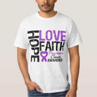 Pancreatic Cancer Hope Love Faith T-Shirt