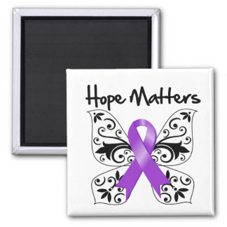 Pancreatic Cancer Hope Matters Square Magnet