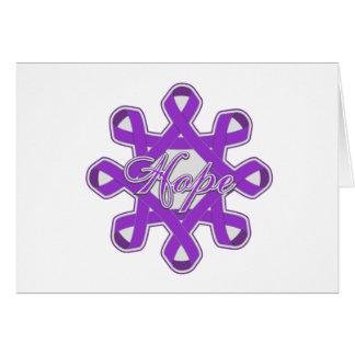 Pancreatic Cancer Hope Unity Ribbons Greeting Card