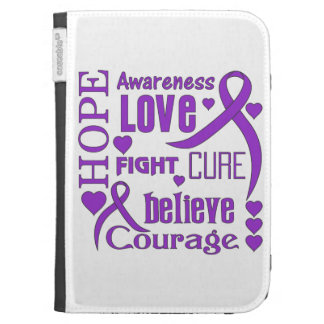 Pancreatic Cancer Hope Words Collage Cases For The Kindle