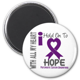 Pancreatic Cancer I Hold On To Hope 6 Cm Round Magnet