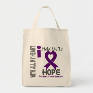 Pancreatic Cancer I Hold On To Hope Tote Bag
