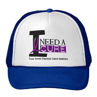 Pancreatic Cancer I NEED A CURE 1 Hats