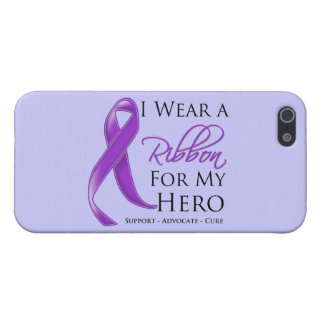 Pancreatic Cancer I Wear a Ribbon For My Hero iPhone 5/5S Case