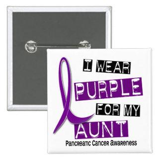Pancreatic Cancer I WEAR PURPLE 37 Aunt 15 Cm Square Badge