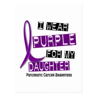 Pancreatic Cancer I WEAR PURPLE 37 Daughter Postcard