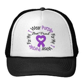 Pancreatic Cancer I Wear Purple For My Best Friend Cap