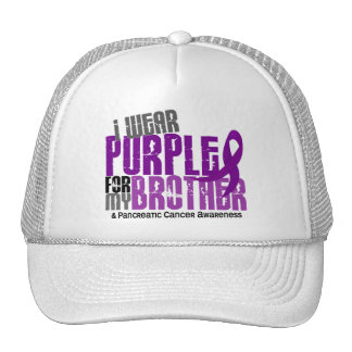 Pancreatic Cancer I Wear Purple For My Brother 6.2 Mesh Hat