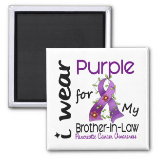 Pancreatic Cancer I Wear Purple For My Brother-In- Square Magnet