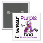 Pancreatic Cancer I Wear Purple For My Dad 43 15 Cm Square Badge