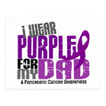 Pancreatic Cancer I Wear Purple For My Dad 6.2 Post Cards