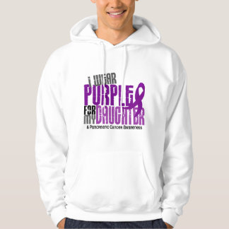 Pancreatic Cancer I Wear Purple For My Daughter 6 Hoodie