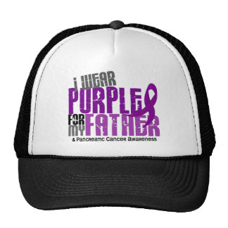 Pancreatic Cancer I Wear Purple For My Father 6.2 Cap
