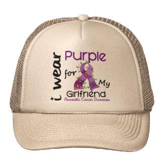 Pancreatic Cancer I Wear Purple For My Girlfriend Trucker Hat