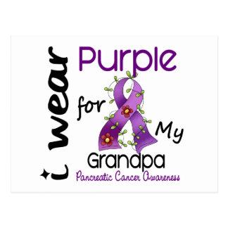 Pancreatic Cancer I Wear Purple For My Grandpa 43 Postcard