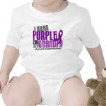 Pancreatic Cancer I Wear Purple For My Grandpa 6.2 Baby Creeper