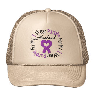 Pancreatic Cancer I Wear Purple For My Husband Cap