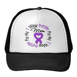 Pancreatic Cancer I Wear Purple For My Mom Cap