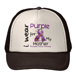 Pancreatic Cancer I Wear Purple For My Mother 43 Mesh Hat