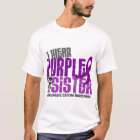 Pancreatic Cancer I Wear Purple For My Sister 6.2 T-Shirt