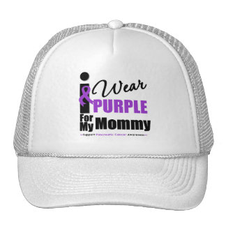 Pancreatic Cancer I Wear Purple Ribbon Mommy Cap