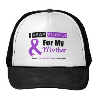 Pancreatic Cancer I Wear Purple Ribbon Mother Trucker Hats