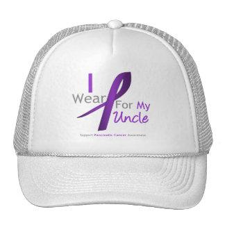 Pancreatic Cancer I Wear Purple Ribbon Uncle Hat