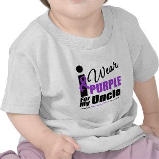 Pancreatic Cancer I Wear Purple Ribbon Uncle T-shirts