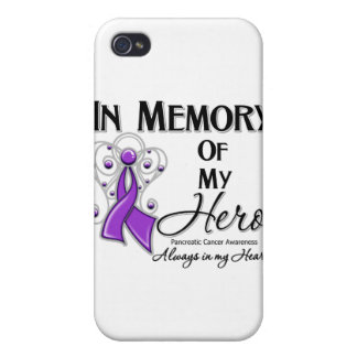 Pancreatic Cancer In Memory of My Hero iPhone 4 Covers