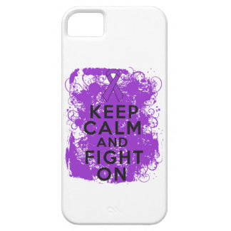 Pancreatic Cancer Keep Calm and Fight On iPhone 5 Cover